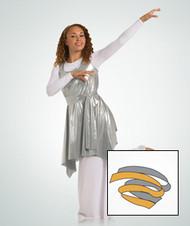 549 - Praise Dance ''Liquid Metallic'' versatile sash