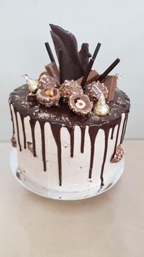 Fererror Rocher Inspired Drip Cake