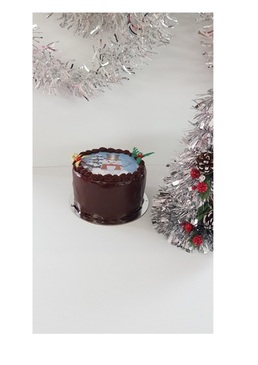 Xmas Edible Image Cake