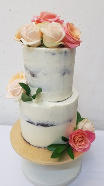 Beautiful Rose Naked Cake