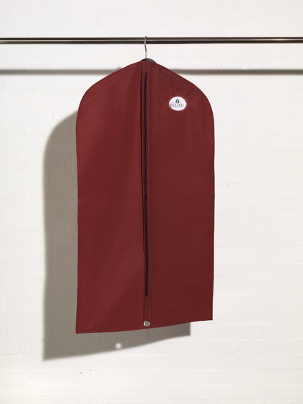 Full length picture of a plastic suit cover bag with window