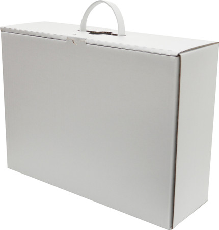 Travel Wedding Dress Box with Leather Handles