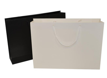 Picture of Black and White rope handled paper bags
