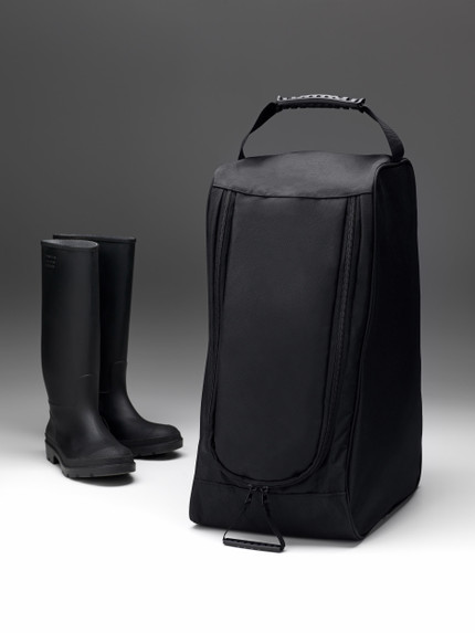 Black Boot Bag with Handle