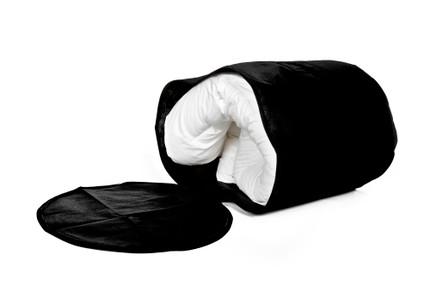 Large Black Duvet Bag in Breathable Material