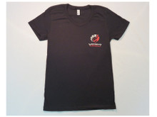 WOMENS FITTED CREW NECK T SHIRT IN BLACK