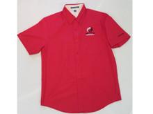 CLUB CLASSIC SHORT SLEEVE RED WOVEN SHIRT