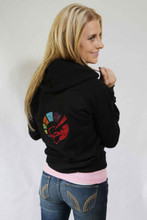 LADIES CRYSTAL RAINBOW BLING HOODIE