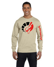 HANES BEEFY BEIGE LONG SLEEVE T SHIRT