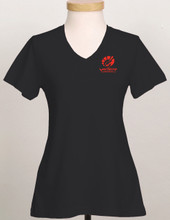 BLACK LADIES SHORT SLEEVE COTON TOP