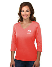 ORANGE 3/4 LENGTH SLEEVE TOP