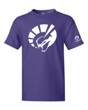 YOUTH SHORT SLEEVE TEE IN PURPLE