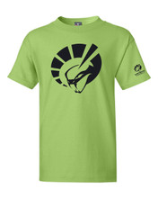 YOUTH SHORT SLEEVE TEE SHIRT IN LIME GREEN