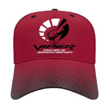 Red adjustable structured cap