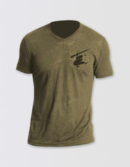 Miss Saigon Unisex Khaki V-Neck T-Shirt