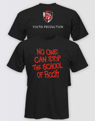 "SCHOOL OF ROCK Adults ""No One Can Stop the School of Rock"" T-Shirt (Pack of 6) Youth Production"