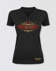 Moulin Rouge! the Musical Fitted V-Neck Logo T-Shirt - Boston