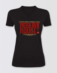 Moulin Rouge! the Musical Glitter Logo V-Neck T-Shirt