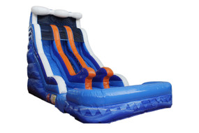 17'H Dual Lane Water Slide