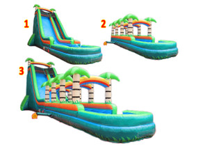 22'H Tropical 3pcs Slide