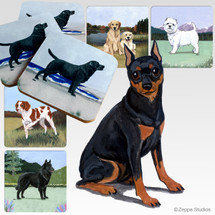 Miniature Pinscher Scenic Coasters