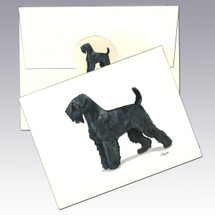 Black Russian Terrier Note Cards