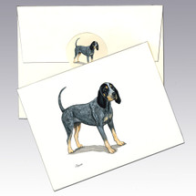 Bluetick Coonhound Note Cards