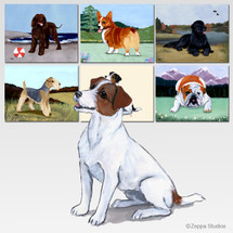 Jack Russell Terrier Scenic Cutting Board
