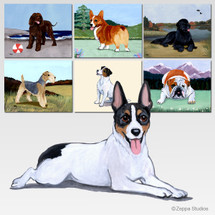 Rat Terrier Scenic Cutting Board - Rectangle
