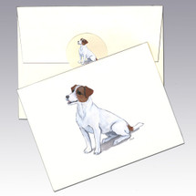 Jack Russell, Brown and White Note Cards