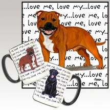 English Staffordshire Terrier Love Me Mug