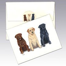 Lab Trio Note Cards