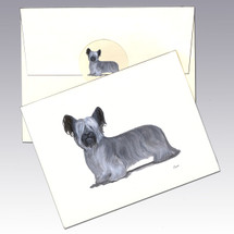 Skye Terrier Note Cards