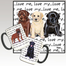 Lab Pups Oval Love Me Mug