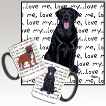 Black Lab Love Me Mug