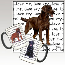 Chocolate Labrador Oval Love Me Mug