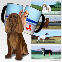 Sussex Spaniel Scenic Mug - Rectangle