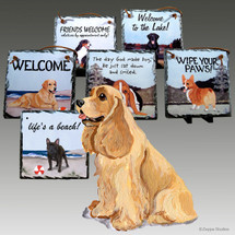 American Cocker Spaniel Slate Signs