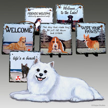 American Eskimo Dog Slate Signs