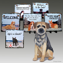 Border Terrier Slate Signs