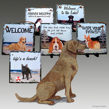 Chesapeake Bay Retriever Slate Signs