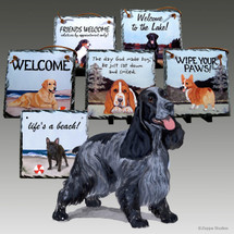 English Cocker Spaniel Slate Signs