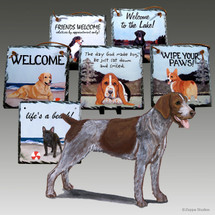 German Wirehaired Pointer Slate Signs