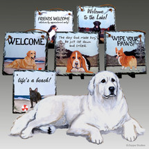 Great Pyrenees Slate Signs