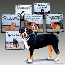Greater Swiss Mtn Dog Slate Signs