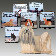 Lhasa Apso Slate Signs