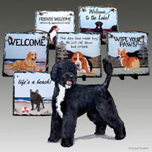 Portuguese Water Dog Puppy Slate Signs