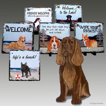 Sussex Spaniel Slate Signs