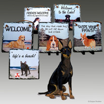 Toy Manchester Terrier Slate Signs