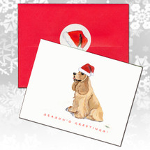 American Cocker Spaniel, Blonde Christmas Cards